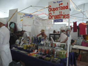 One of the many vendors at Summer Solstice...
