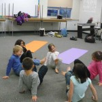 "Little Yogis ""crab dance"""